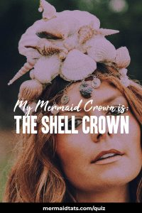 A woman with a shell crown.